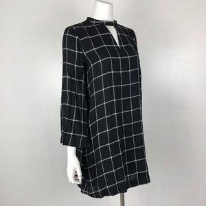 LOFT Ann Taylor | Black White Choker Shift Dress